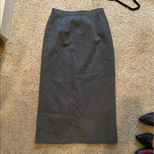 Pencil skirt, vintage grey wool, 10